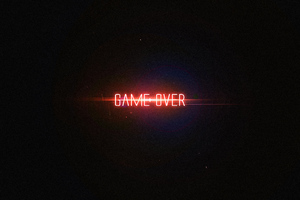 Game Over Typography 4k