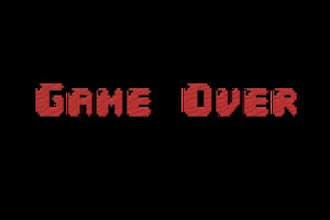 Game Over Typography Wallpaper