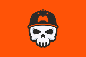 Gamer Skull Minimal 4k Wallpaper
