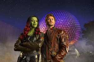 Gamora And Star Lord Cosplay Wallpaper