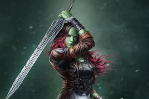 Gamora Artwork Wallpaper