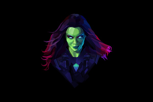 Gamora Digital Art Wallpaper