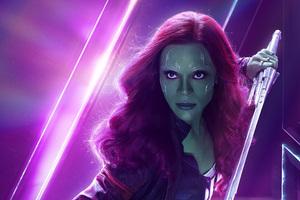 Gamora In Avengers Infinity War New Poster