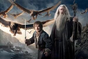Gandalf Bilbo In Hobbit 3