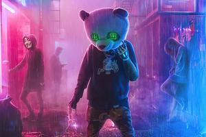 Gangster Panda 4k Wallpaper