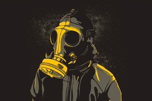 Gas Mask Guy Wallpaper