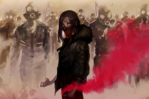 Gas Mask Riot 4k