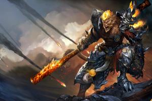 General Wukong League Of Legends Artwork Wallpaper