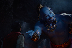 Genie In Aladdin 2019 Wallpaper