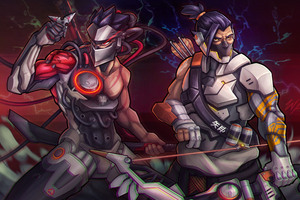 Genji And Hanzo Overwatch Artwork