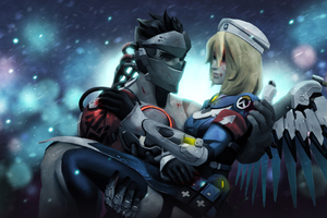 Genji And Mercy Overwatch 5k