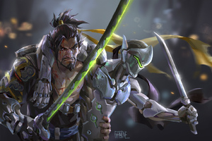 Genji Hanzo Overwatch Artwork