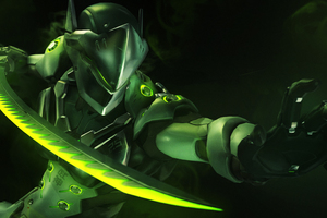 Genji Overwatch 5k Artwork