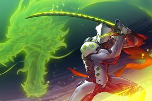 Genji Overwatch Art Wallpaper