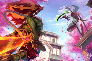 Genji Overwatch Sakura Samurai Wallpaper