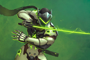 Genji Overwatch Warrior Sword Wallpaper