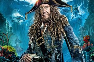 Geoffrey Rush In Pirates Of The Caribbean Dead Men Tell No Tales Movie