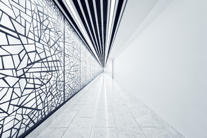 Geometric Pattern Walkway London 8k Wallpaper