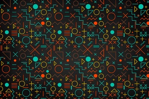 Geometry Shapes Abstract 5k Wallpaper