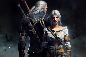 Geralt Ciri The Witcher 3 5k Wallpaper