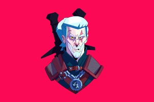 Geralt Of Rivia From The Witcher Series Minimal 5k Wallpaper