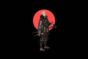 Geralt Of Rivia The Witcher 4k Minimalism Wallpaper