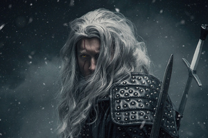 Geralt Of Rivia Witcher Cosplay 5k Wallpaper