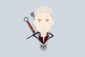 Geralt Of Rivia Witcher Minimalism 4k
