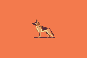 German Shepherd Illustration Wallpaper