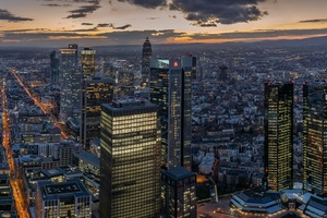Germany Frankfurt Skyscrapers 5k Wallpaper