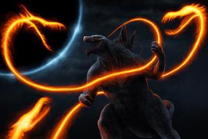 Ghidorah Noodles Vs Anime Godzilla