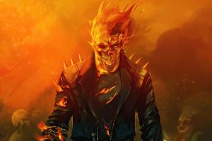 Ghost Rider 4k Artwork 2020