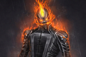 Ghost Rider 4k Artwork Wallpaper