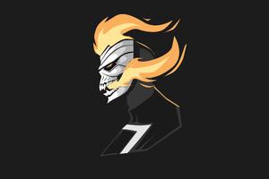 Ghost Rider 4k Minimalism