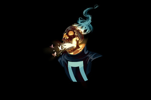 Ghost Rider 4k Minimalism 2020
