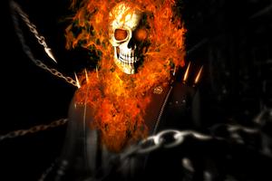 Ghost Rider Art 4k