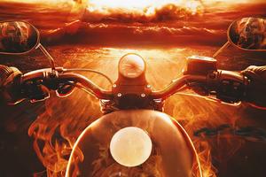 Ghost Rider Bike 4k Wallpaper