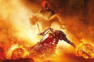 Ghost Rider Biker 2020 4k