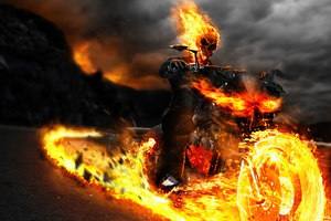 Ghost Rider Biker Wallpaper