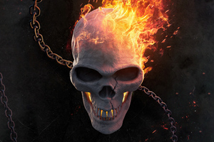 Ghost Rider Burning 5k Wallpaper