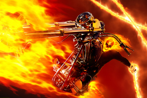 Ghost Rider Burning Guy 4k