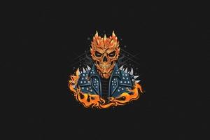 Ghost Rider Dark Minimal 4k