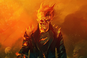 Ghost Rider Flame Hero 5k Wallpaper