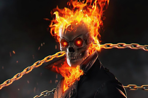 Ghost Rider Flame Thrower 4k
