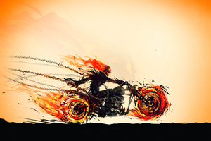Ghost Rider Hellfire Rider 4k Wallpaper