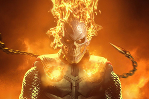 Ghost Rider In Flames 4k