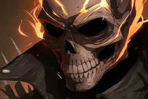 Ghost Rider In Flames4k Wallpaper
