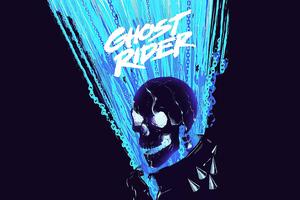 Ghost Rider Minimal 4k