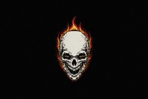 Ghost Rider Minimal Background 5k Wallpaper