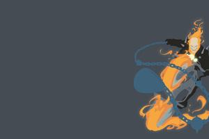 Ghost Rider Minimalism 4k